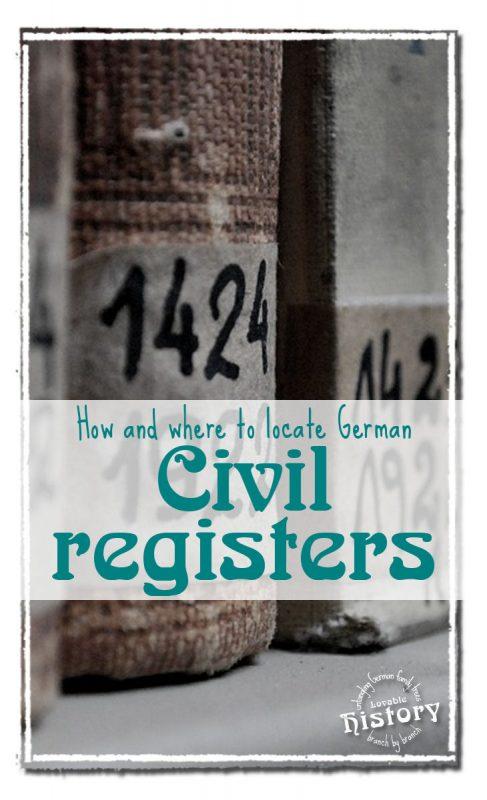 Locate German church and civil registers. [www.lovablehistory.com]