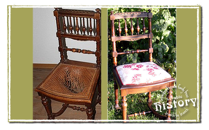 How to beautify vintage chairs with stain, chalk paint and wax. [www.lovablehistory.com]