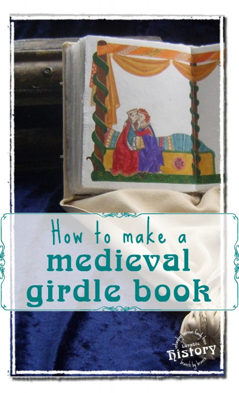 How to make a medieval girdle book, pt. 2: book binding [www.lovablehistory.com]