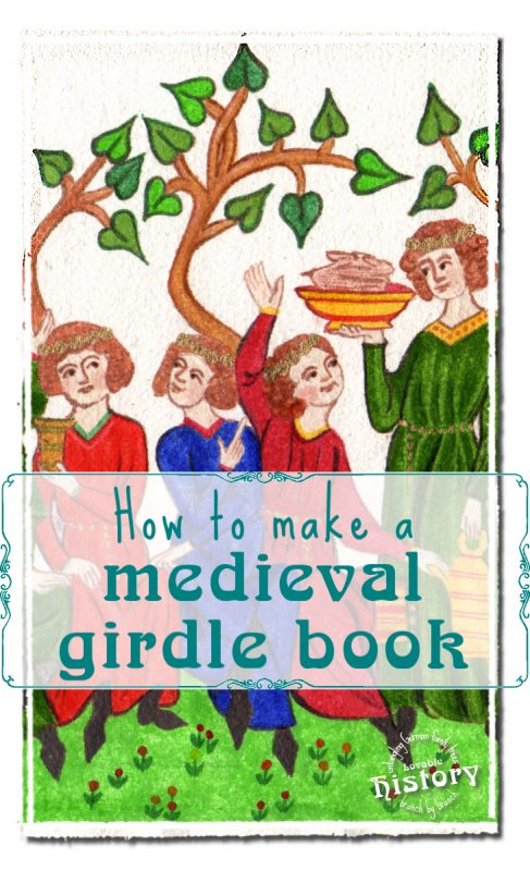 How to make a medieval girdle book, pt. 2: painting miniatures [www.lovablehistory.com]