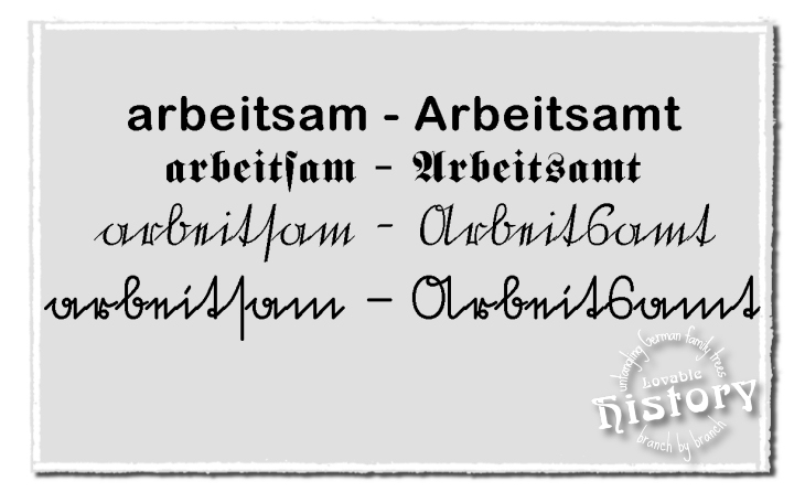 With a little bit of practice you'll be able to deal with Old German script. [www.lovablehistory.com]