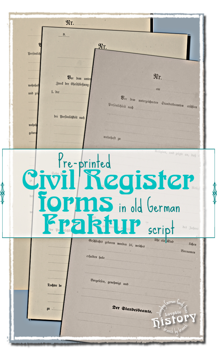 Empty 1890s pre-printed civil register form [www.lovablehistory.com]