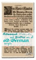 Kurrent, Suetterlin and Fraktur all belong to the old German scripts