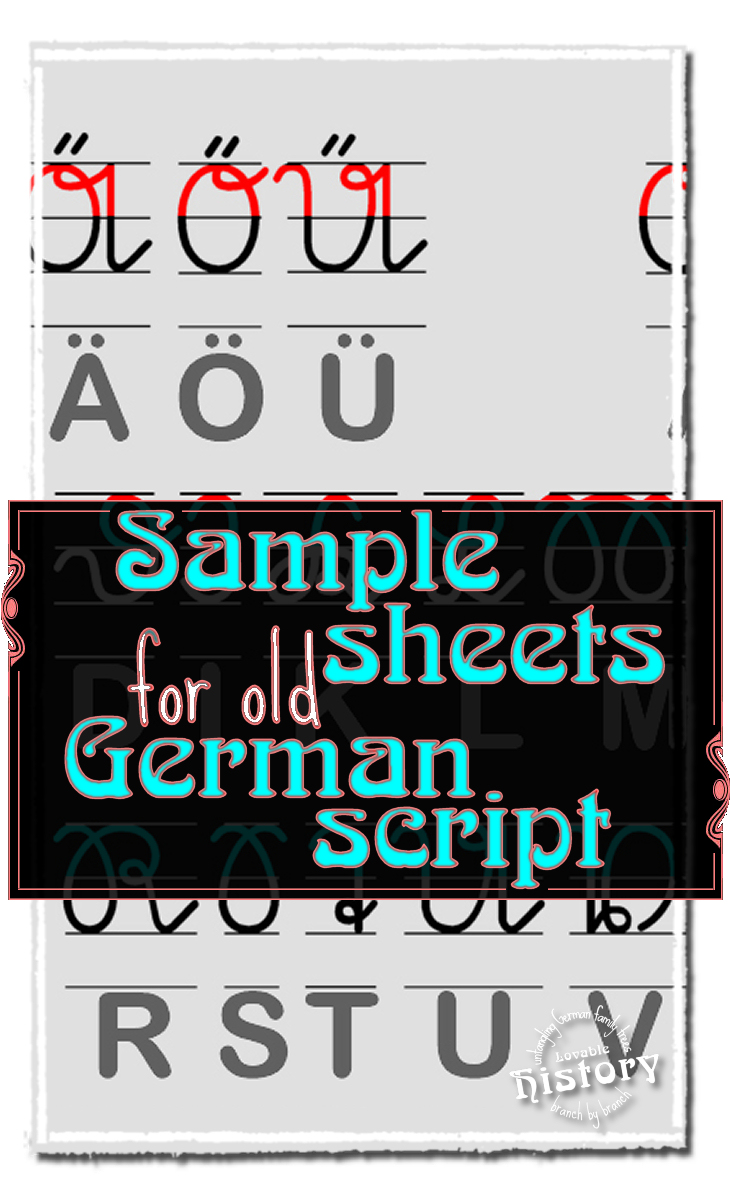 Using sample sheets for old german script documents thecheapjerseys Gallery